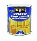 Rustins EAVS500, Vernice per tutti i tipi di superfici ad asciugatura veloce, Trasparente Satinato (Satin Clear), 500 ml