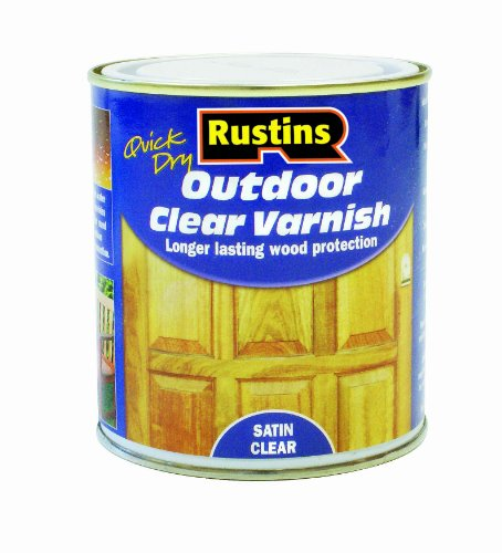 Rustins EAVS500 500ml Outdoor Varnish Satin - Clear