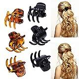 24 Stück Kunststoff Haarklammer, Damen Haargreifer mittelgroß Haarklammern Hair Claw Clips für Mädchen und Frauen