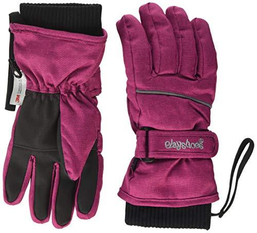 Playshoes Unisex Kinder Finger Winter-Handschuhe, Beere 40, 3