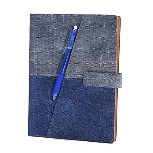 Cuadernos, bolígrafos de diario, suministros repetibles, con bolígrafo, material de poliuretano, para mujeres y hombres (color : E)
