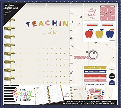The Happy Planner Big Sized 12 Month Teacher Planner Box Kit - Fresh...