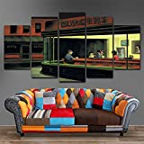 HIMFL Malerei Wand Bilder Zuhause Dekor Kunstwerk Modular 5 Panel Bob Burger Poster HD gedruckt Modern Segeltuch Für das Wohnzimmer,A,20×35×2+20×45×2+20×55×1