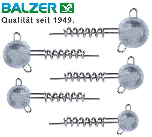 Balzer Shirasu Screw Jig Set - Schraubköpfe für Gummifische, Spiralköpfe für Gummiköder, Jigköpfe für Softbaits, Bleiköpfe, Ausführung:5g / 7.5g / 10g / 12.5g / 15g