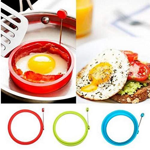 Silikon Spiegelei Pancake Ring Omelette Spiegelei runde Former Eier Form für Kochen Frühstück Bratpfanne Backofen Küche