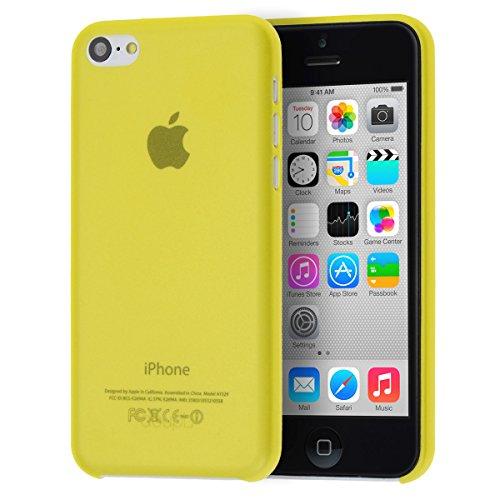 doupi UltraSlim Funda para iPhone 5C, Finamente Estera Ligero Estuche Protección, Amarillo