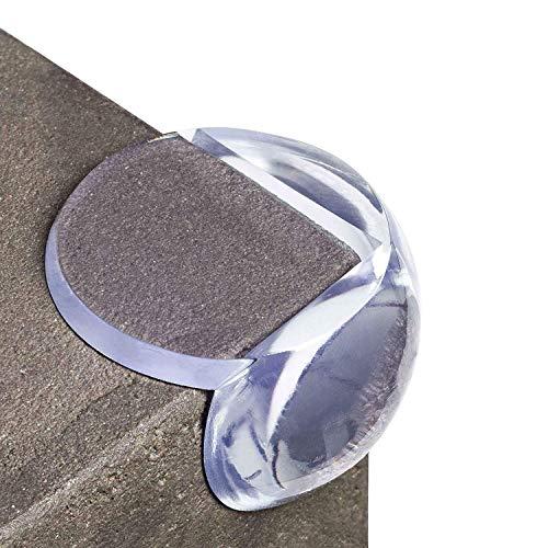 Happylovebaby Transparenter Eckenschutz und Kantenschutz Tischkantenschutz Kindersicherung mit 3M Klebepads, 20er Pack