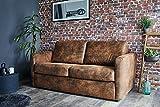 Lisa Design - Austin - Canapé 3 Places Convertible - Ouverture Express - Couchage Quotidien - Style Industriel