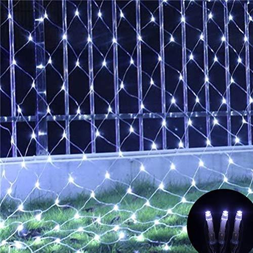 TAIPPAN LED Netz Licht, 3M x 2M wasserdichte Fischnetz Fairy Lampe, blinkende Mesh String Licht für Weihnachten Outdoor Garden Home Decor