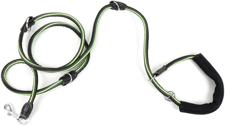 Alapet 2.35M MultiFunctional AntiSkid Round Rope, Black Adjustable Nylon Dog Leash, Three Adjustable Lengths, Comfortable Foam Handle, Stylish color, NonSlip, WearResistant