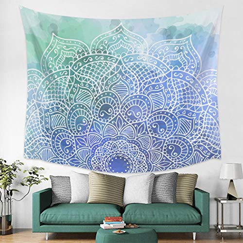N / A Tapestry home decoration Cartoon Plant Blue Polyester Tapestries Wall Decor Wall Decor Bedspread Tapestry Wall Art n Towel Scarf Window n Tab