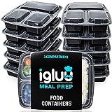 3 Compartiment repas Préparation Alimentaire Boîtes Bento Lunch Box Boîte de...