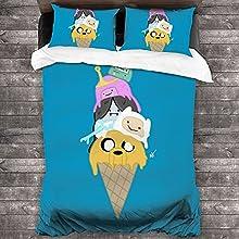 YYXPDD Adventure Time - Juego de ropa de cama infantil (100% microfibra, 1 funda nórdica y 2 fundas de almohada de 135 x 200 cm), diseño de Adventure Time