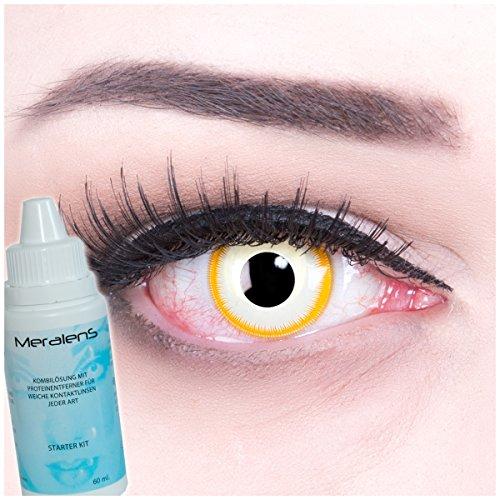 Meralens Avatar Kontaktlinsen mit Pflegemittel und Behälter ohne Stärke, 1er Pack (1 x 2 Stück)