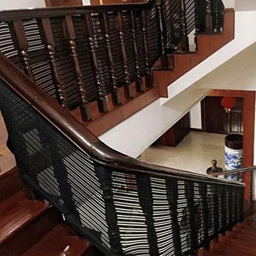 MAGFYLYDL Red De Seguridad Resistente para La Protección De Niños Mascotas,Malla De Seguridad para Escaleras Y Balcones Blanco(Color:Negro,Size:2 * 0.9M(6.6 * 2.95FT))