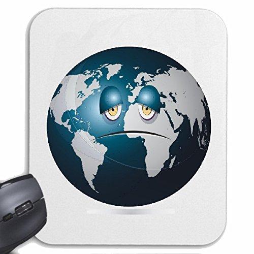Reifen-Markt Mousepad (Mauspad) Erde Planet Smiley ERDBALL GLOBUS NASA Weltraum Astronaut Roboter für ihren Laptop, Notebook oder Internet PC (mit Windows Linux usw.) in Weiß