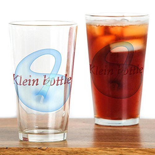 CafePress - klein-bottle Drinking Glass - Pint Glass, 16 oz. Drinking Glass by CafePress