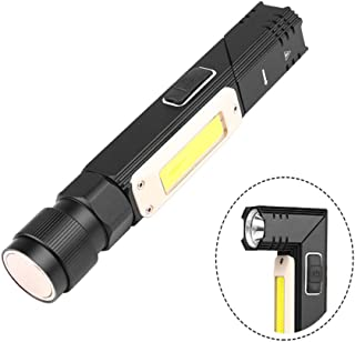 LED Work Light Rechargeable USB Inspection Light, BESTSUN Portable Handheld Flashlight Foldable COB Work Lamp with Magnetic Base & Stepless Dimmable for Garage Mechanic Auto Car Truck Repair (Black)