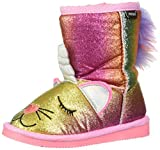 Muk Luks Girl's Averly Unikitten Boots Fashion, Multi Pastel, 10 M US Big Kid
