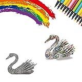 JAWSEU Juego De Rompecabezas 3D,DIY Arts Crafts Puzzle Kit Regalo de Juguete para Niños Niñas Niños Kit de Manualidades de Pintura Educativa Regalo,Juguetes Kit de Colorear