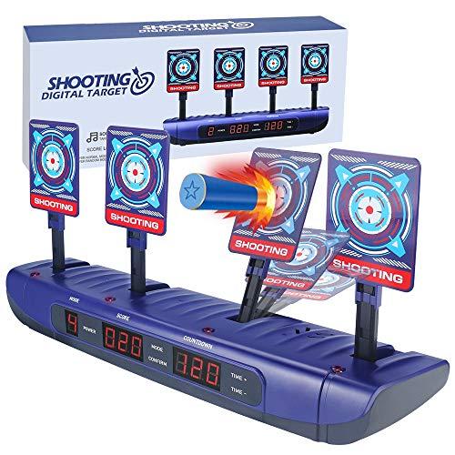 Zielscheibe für Nerf Elektronische Wertung Automatisches Zurücksetzen Digitale Ziele Spielzeug für 6 7 8 9 10 Jahre alte Kinder Jungen Geburtstagsgeschenke