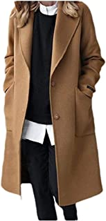 neveraway Womens Classic Mid Long Woolen Thickened Parka Outwear Parka Outwear