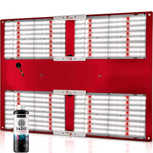 HLG 550 V2 R Spec (Version 2, 120 Volt) - Horticulture Lighting Group LED Grow Light with Quantum Boards | ETL/UL Certified, 480W Samsung LM301B, Inventronics Driver + Radix 100ml
