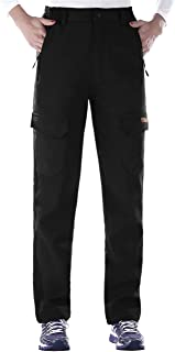 Nonwe Women's Water-Resistant Workouts Fleece Lined Hiking Climbing Sweat Pants Black1 S/29 Inseam