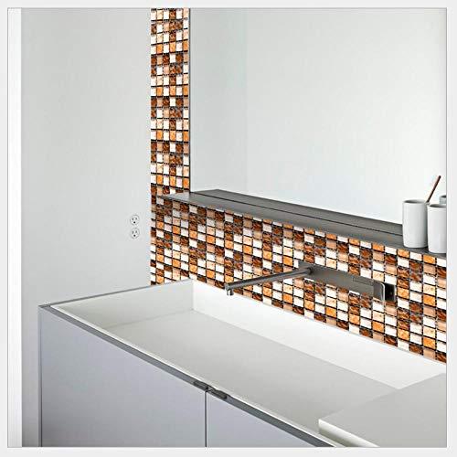Adesivo Murale A Mosaico Adesivi Per Piastrelle A Mosaico 3D Adesivi Murali Impermeabili Adesivi Per Pavimenti 10 * 10 Cm-44