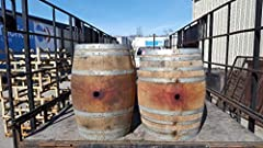 Can be used as a beautiful decor or center piece for your home. These are genuine reclaimed wine barrels, locally sourced in the PNW. Made from oak wood, each barrel is unique, with various markings, stains and possible scuffs. Elegant and rustic des...