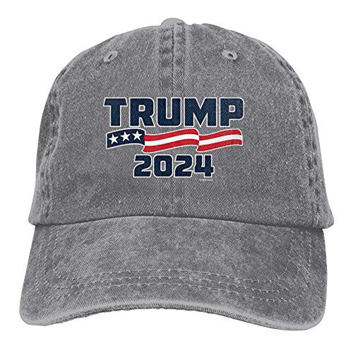 Unisex Hat Trump 2024 Gorra de béisbol ajustable sombrero de sol gris