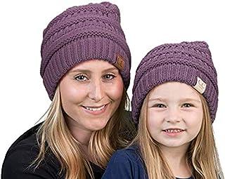 Mother/Daughter Winter Hat Bundle - Violet