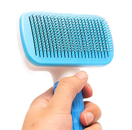 FymuSing Cat Grooming Brush, Pet Self Cleaning Slicker Brushes Gently Removes Loose Undercoat, Mats and Tangled Hair