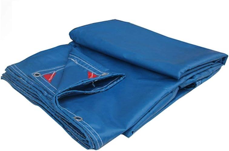 ATR Toile imperméable de Toile imperméable de Toile imperméable de Toile de bache PVC Faite sur Comhommede (Couleur  Bleu, Taille  4  5m)
