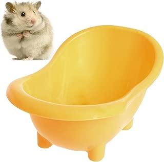 Legendog Hamster Bathtub, Pet Bathtub Mini Portable Pet Bathing Tub Plastic Bath Sand Room for Small Animal