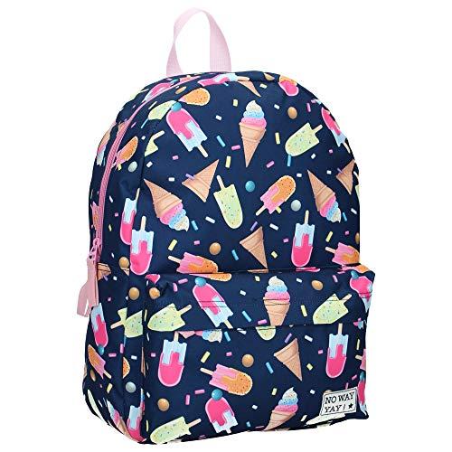 Milky Kiss Kinderrucksack für Mädchen - EIS - Marineblau und Rosa
