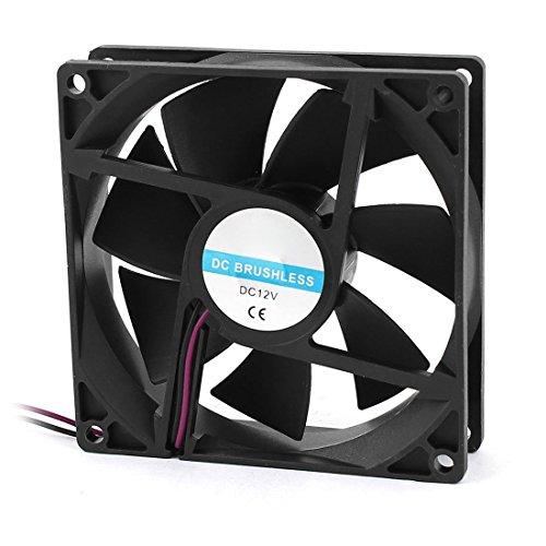 TOOGOO 90mm x 25mm 9025 2pin 12V DC Sin escobillas caja de la PC Refrigerador de la CPU Ventilador de refrigeracion