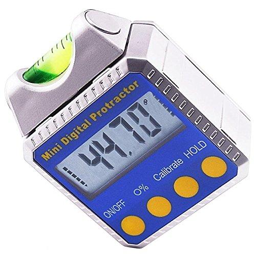 Digitaler Winkelsucher Kegelrahmen Magnetische Neigungsanzeige Neigungsmesser Winkelmesser (4 Tastenmodi)