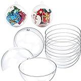 20 Piezas Bolas Navidad, Bolas Plástico Transparente Bolas Redondas, para árbol Navidad, Decoración, Caja Dulces, Decoración Regalo,7cm
