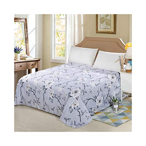 AMDXD Funda de cama de poliéster, color gris claro, con forma de flor, transpirable, hipoalergénica (1 sábana de 230 x 230 cm)