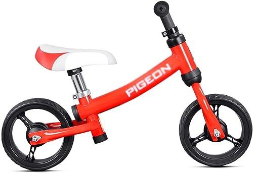 Draisienne YXX Vélo d'équilibre Marche pour Tout-Petits Rouge pendentif 1 2 3 4 Ans, vélo de Sport sans pédale avec siège réglable