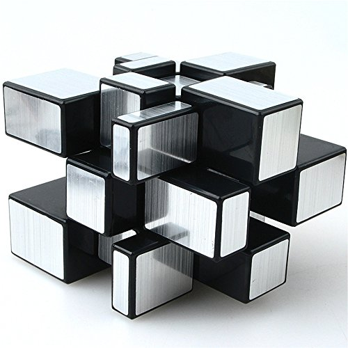 TANCH Mirror Speed Magic Cube 3X3 Puzzle for Children & Adults Silver