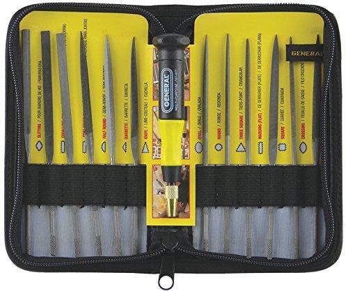 General Tools 707475 Swiss Pattern Needle File Set, 12-Piece