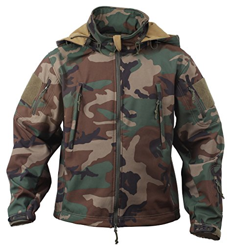 Rothco Special Ops Tactical Soft Shell Jacket, Woodland Camo, XL