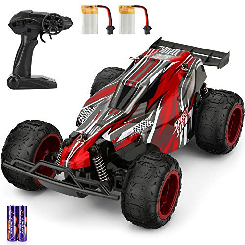 Remote Control Car,2.4 GHZ High Speed Racing Car Include 2 Rechargeable Batteries,All Terrain Waterproof Electronic RC Truck,Toy Car for 5 6 7 8 9-16 Year old Boys Teens Adults