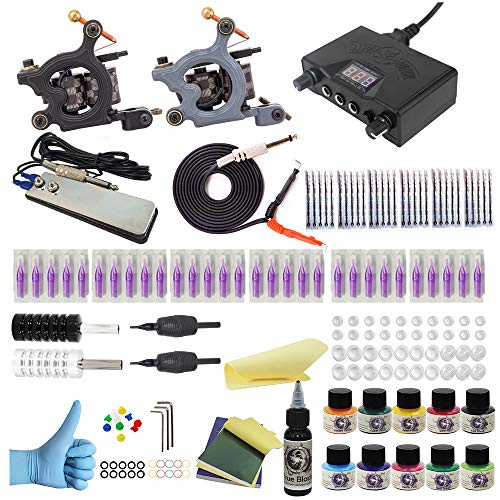 Wormhole Tattoo Complete Tattoo Kit for Beginners Tattoo Power Supply Kit 10 Tattoo Inks 30 Tattoo...