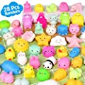 Mochi Squishy Toys FLY2SKY 28PCS Animal Mini Squishies Kawaii Party Favors for Kids Cat Unicorn Squishy Squeeze Stress Relief Toys Goodie Bags Novelty Toy Birthday Gifts for Boys Girls Adults, Random from FLY2SKY