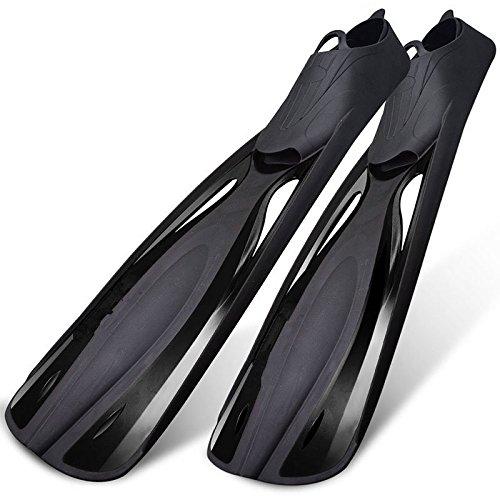 Taucherflossen Voll Fuß Tauchen Flossen zum Schwimmen, Schnorcheln, Wasseraktivität, Swiming Lektion for Schnorcheln Tauchen Männer Frauen Kinder Schwimmen Flippers ( Farbe : Schwarz , Größe : L )