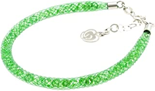 Bracciale Verde in Argento 925 con Cristalli Luminosi Collezione Tennis Colorazione : Smeraldo 4S