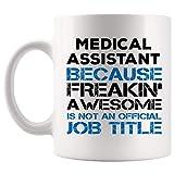 Orgulloso Asistente médico Taza de café Taza Freakin Impresionante Título de trabajo no oficial CNA Futura enfermera certificada Enfermera Practicante Cuidado Graduación Estudiante Escuela Regalo